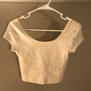 White lace crop top xs brand new with tags
